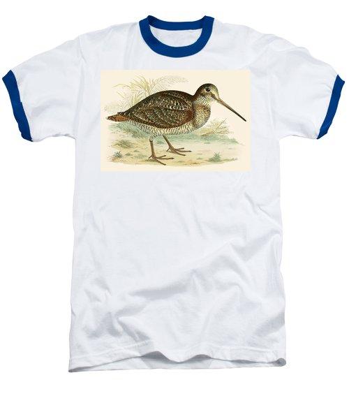 Woodcock Baseball T-Shirt by Beverley R Morris