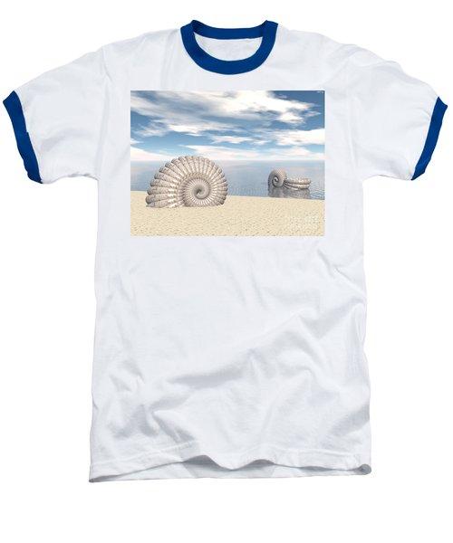 Baseball T-Shirt featuring the digital art Beach Of Shells by Phil Perkins