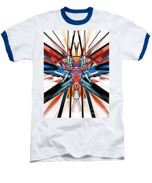 Baseball T-Shirt featuring the digital art Mirror Image Abstract by Phil Perkins