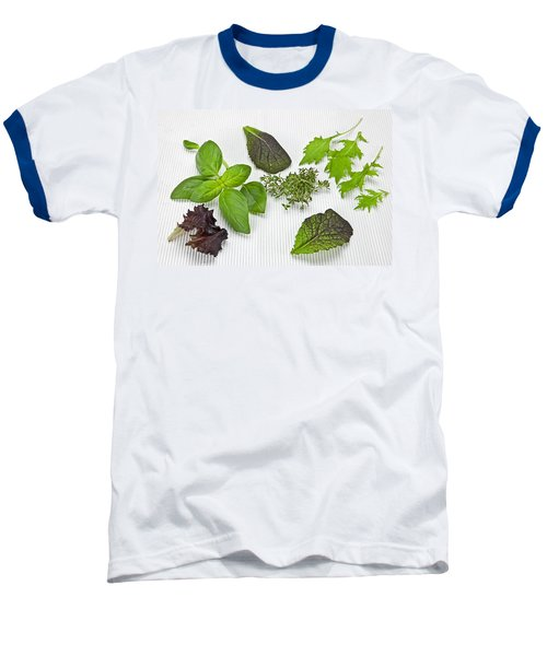 Salad Greens And Spices Baseball T-Shirt by Joana Kruse