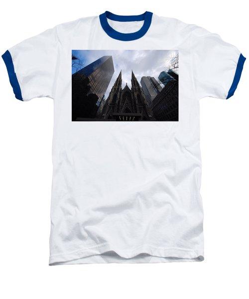 Baseball T-Shirt featuring the photograph Steeples by John Schneider