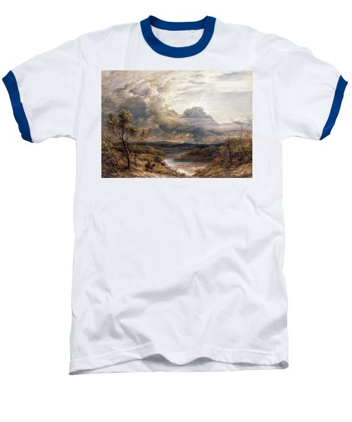 Sun Behind Clouds Baseball T-Shirt by John Linnell
