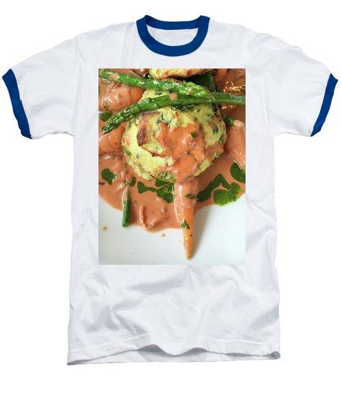 Asparagus Dish Baseball T-Shirt by Tom Gowanlock