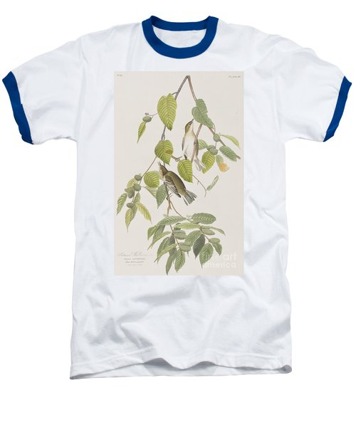 Autumnal Warbler Baseball T-Shirt by John James Audubon