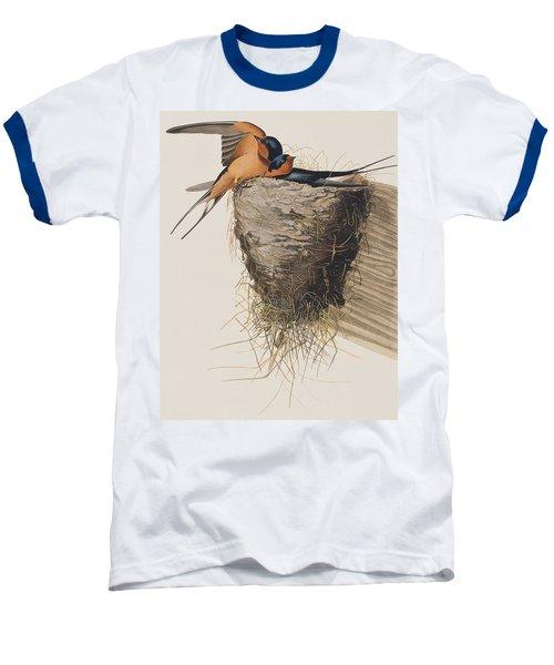 Barn Swallow Baseball T-Shirt by John James Audubon