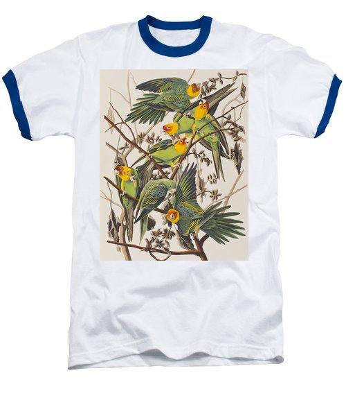 Carolina Parrot Baseball T-Shirt by John James Audubon