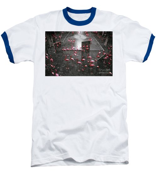 Baseball T-Shirt featuring the photograph Flamingo by Setsiri Silapasuwanchai