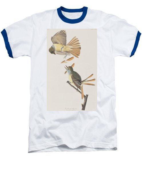 Great Crested Flycatcher Baseball T-Shirt by John James Audubon
