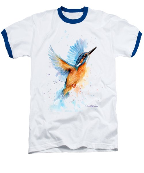 Kingfisher Baseball T-Shirt by Sarah Stribbling