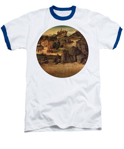 Landscape With Castles Baseball T-Shirt by Bartolomeo Montagna