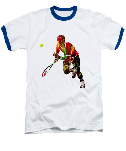 Mens Tennis Collection Baseball T-Shirt by Marvin Blaine