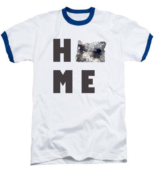 Oregon State Map Baseball T-Shirt by Marlene Watson