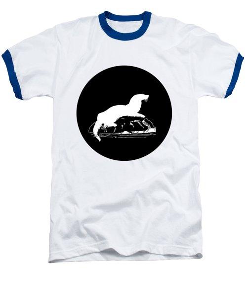 Otter Baseball T-Shirt by Mordax Furittus