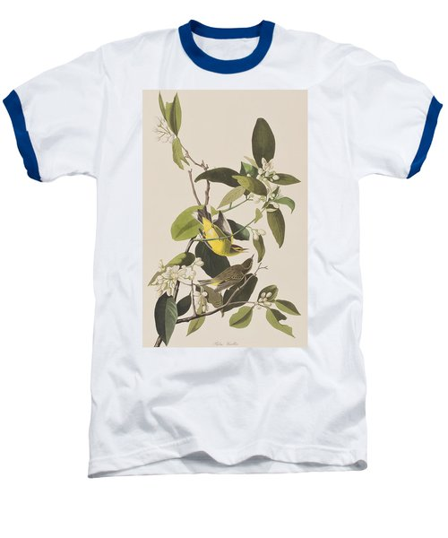 Palm Warbler Baseball T-Shirt by John James Audubon