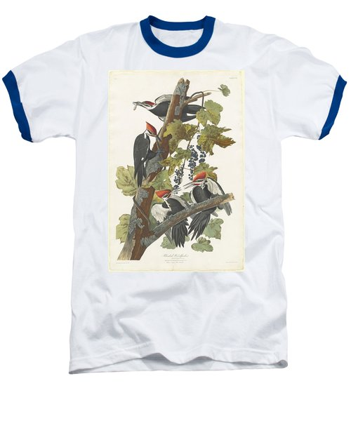 Pileated Woodpecker Baseball T-Shirt by John James Audubon