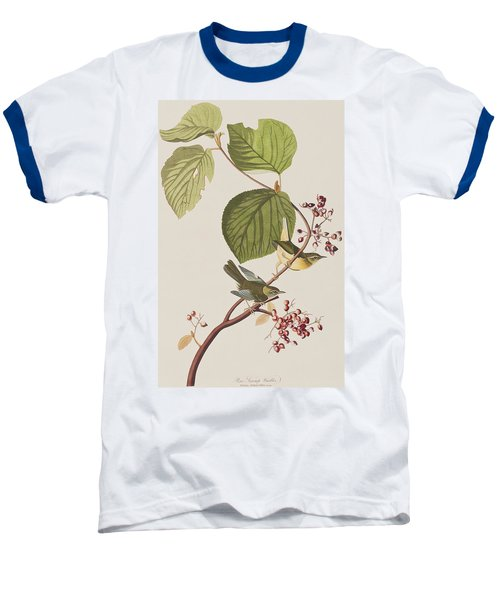 Pine Swamp Warbler Baseball T-Shirt by John James Audubon