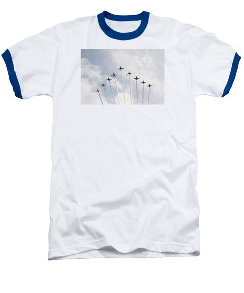 Baseball T-Shirt featuring the photograph Red Arrows by Christopher Rowlands