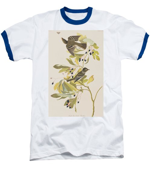 Small Green Crested Flycatcher Baseball T-Shirt by John James Audubon