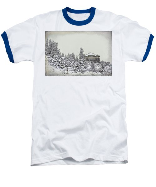 Baseball T-Shirt featuring the photograph Snow In July by Teresa Zieba