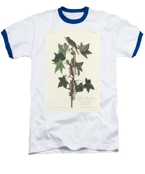 Traill's Flycatcher Baseball T-Shirt by John James Audubon