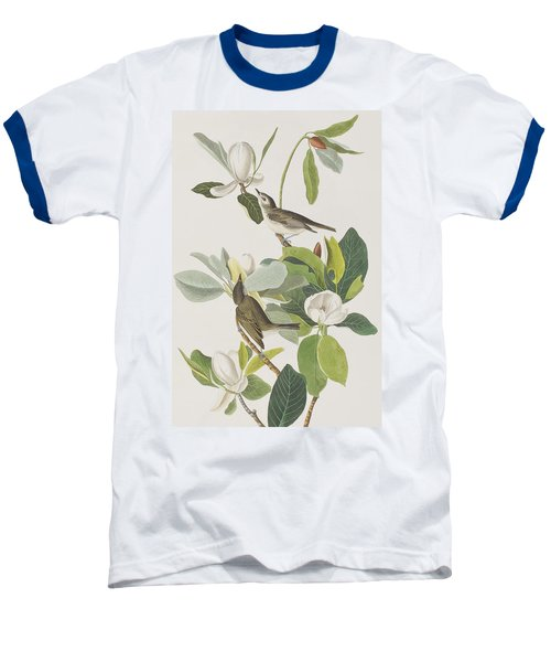 Warbling Flycatcher Baseball T-Shirt by John James Audubon