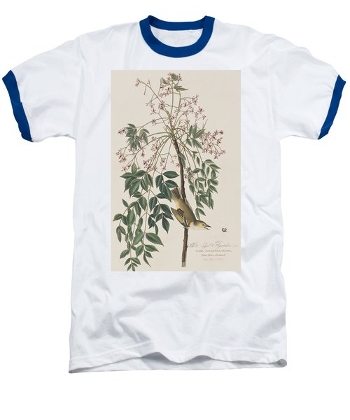 White-eyed Flycatcher Baseball T-Shirt by John James Audubon