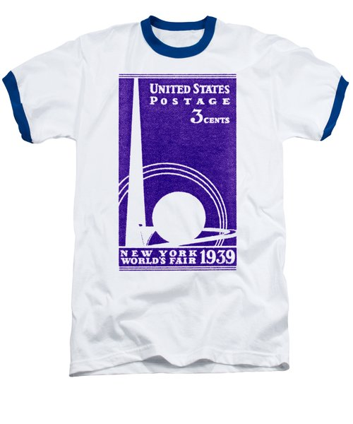 1939 New York Worlds Fair Stamp Baseball T-Shirt by Historic Image