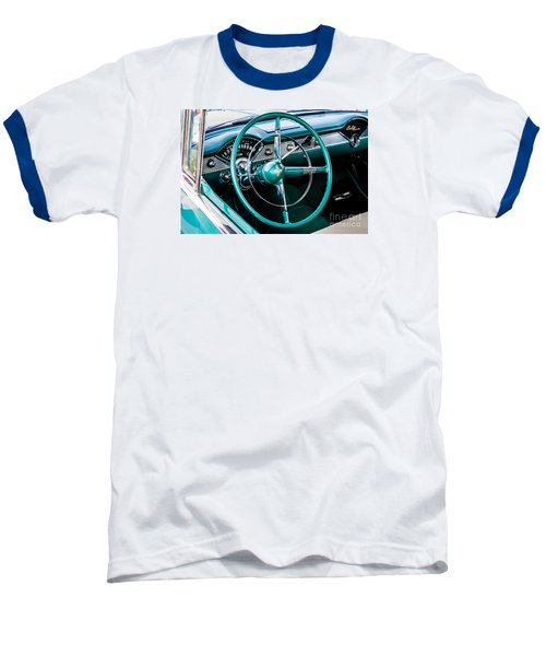 Baseball T-Shirt featuring the photograph 1955 Chevrolet Bel Air by M G Whittingham
