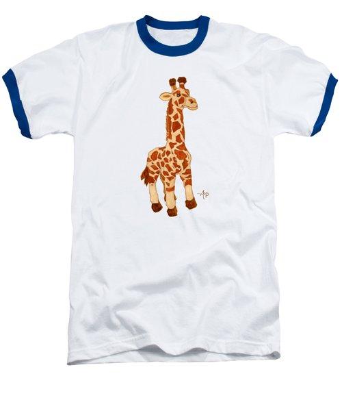 Cuddly Giraffe Baseball T-Shirt by Angeles M Pomata