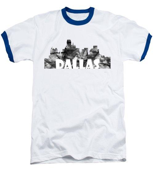 Dallas Texas Skyline Baseball T-Shirt by Marlene Watson
