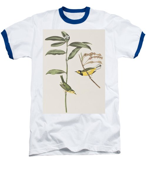 Hooded Warbler  Baseball T-Shirt by John James Audubon