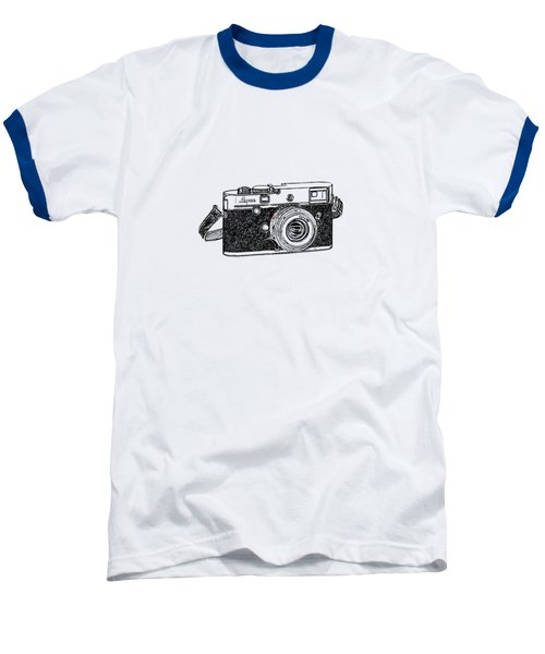Baseball T-Shirt featuring the drawing Rangefinder Camera by Setsiri Silapasuwanchai