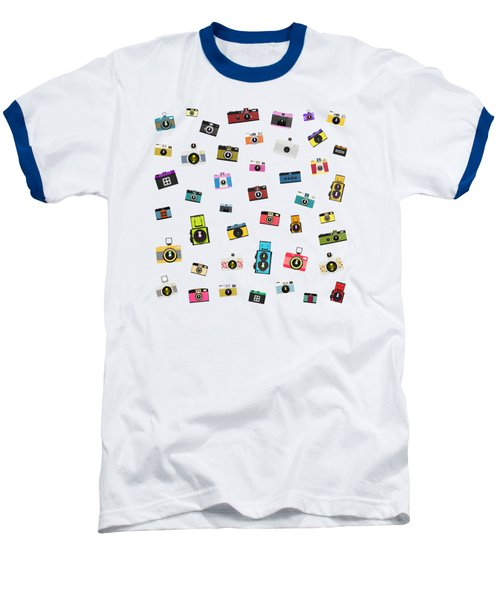 Baseball T-Shirt featuring the painting Retro Camera by Setsiri Silapasuwanchai