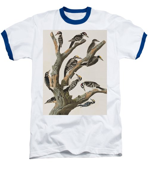 Woodpeckers Baseball T-Shirt by John James Audubon