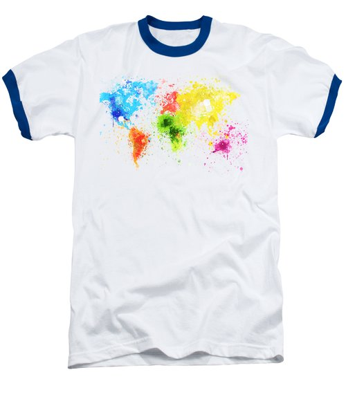 Baseball T-Shirt featuring the painting World Map Painting by Setsiri Silapasuwanchai