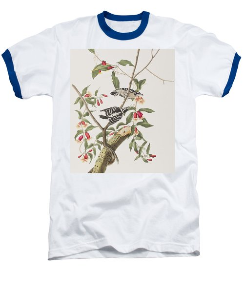 Downy Woodpecker Baseball T-Shirt by John James Audubon