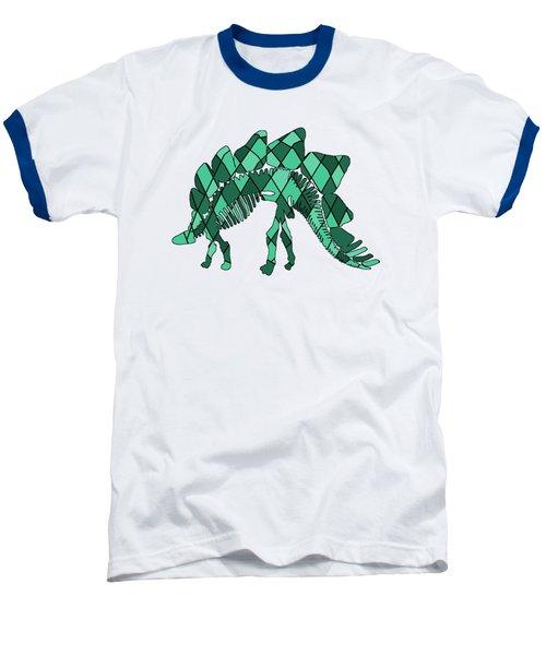 Stegosaurus Skeleton Baseball T-Shirt by Mordax Furittus