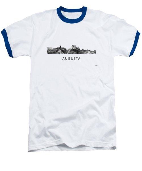 Augusta Maine Skyline Baseball T-Shirt by Marlene Watson
