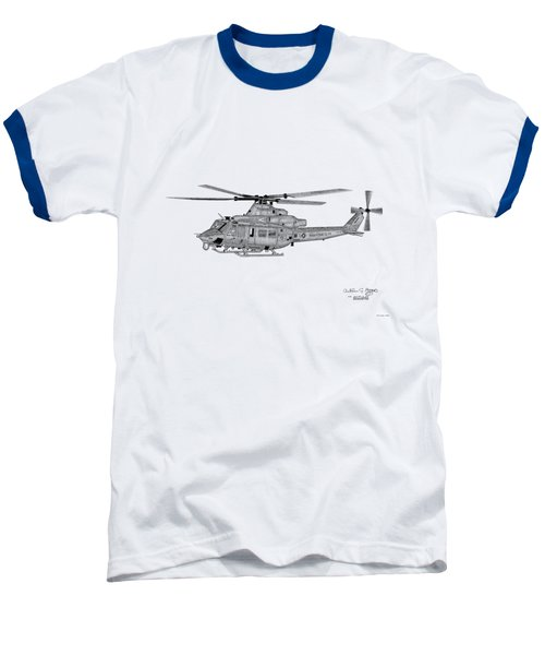 Bell Helicopter Uh-1y Venom Baseball T-Shirt by Arthur Eggers