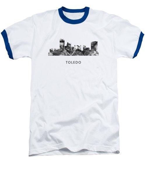 Toledo Ohio Skyline Baseball T-Shirt by Marlene Watson