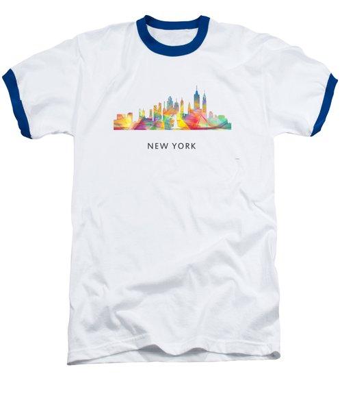 New York Skyline Baseball T-Shirt by Marlene Watson