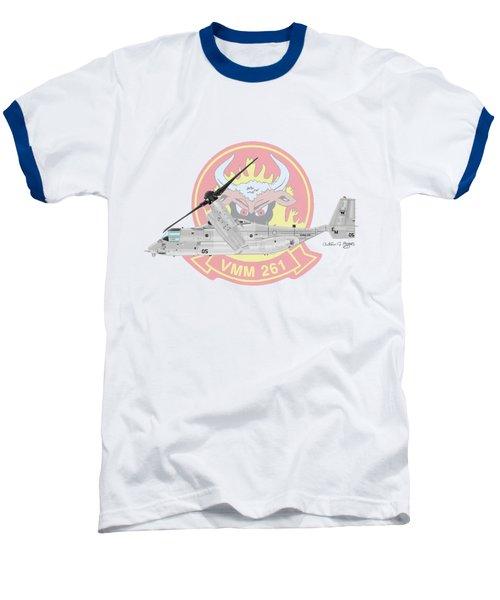 Bell Boeing Mv-22b Osprey Baseball T-Shirt by Arthur Eggers