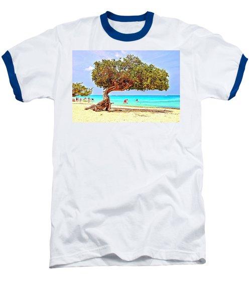 Baseball T-Shirt featuring the photograph A Day At Eagle Beach by DJ Florek