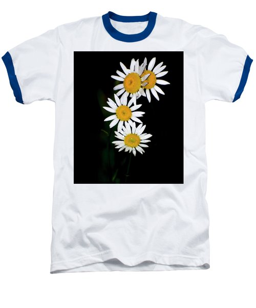Baseball T-Shirt featuring the digital art A Group Of Wild Daisies by Chris Flees