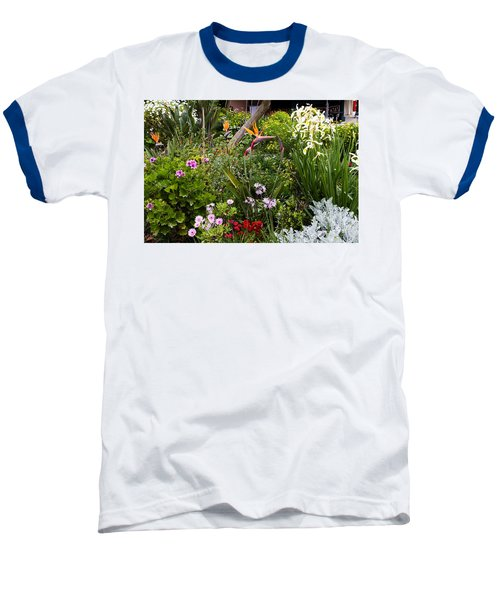 Baseball T-Shirt featuring the photograph A Riot Of Flowers by Lorraine Devon Wilke