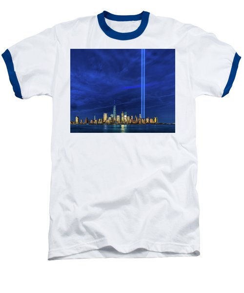 Baseball T-Shirt featuring the photograph A Tribute At Dusk by Chris Lord