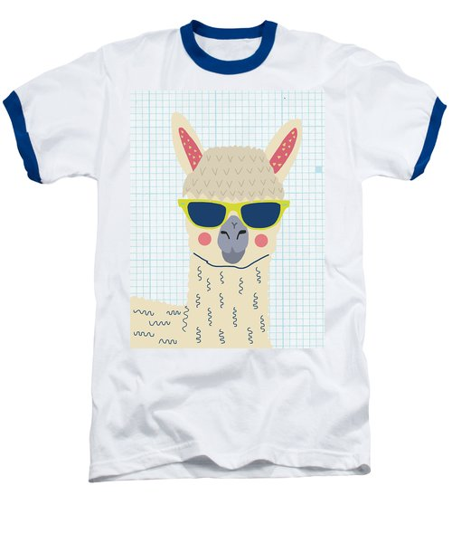 Alpaca Baseball T-Shirt by Nicole Wilson