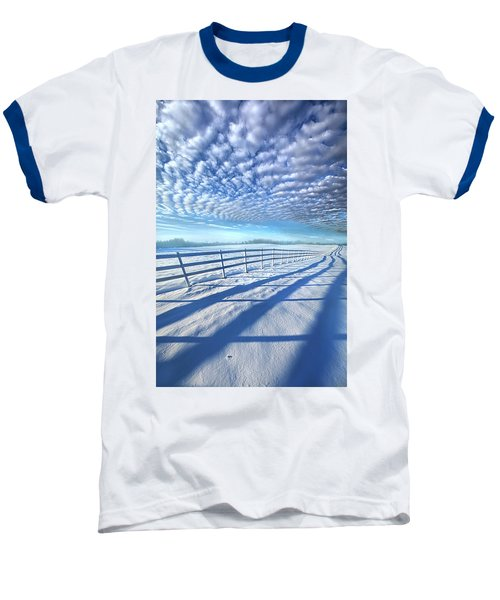 Baseball T-Shirt featuring the photograph Always Whiter On The Other Side Of The Fence by Phil Koch