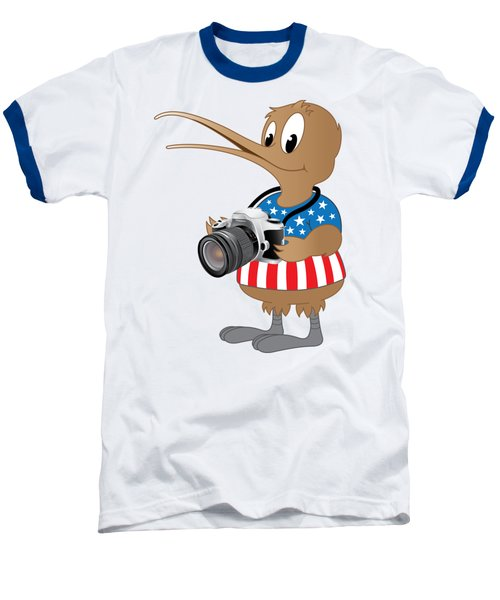 American Kiwi Photo Baseball T-Shirt by Mark Dodd