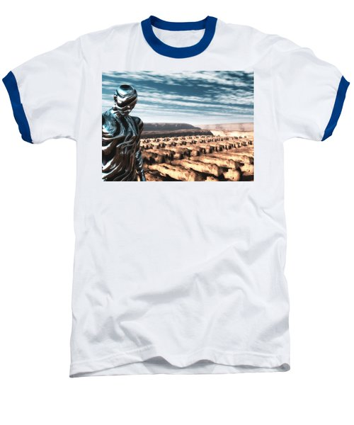 Baseball T-Shirt featuring the digital art An Untitled Future by John Alexander